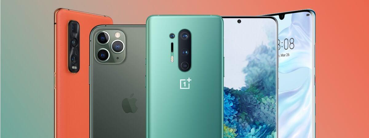 Flagowce pięciu największych producentów smartfonów